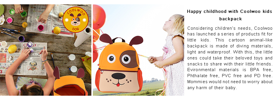 9f48537782c5 Coolwoo toddler backpack features with a cute animal face