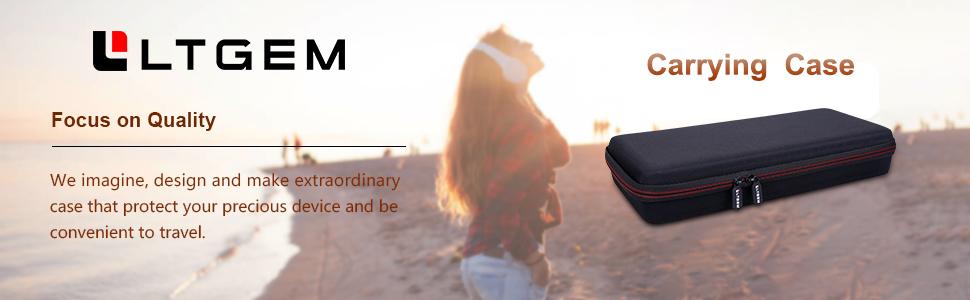 LTGEM EVA Hard Case for Numark DJ2GO2 | Pocket DJ Controller Travel Protective Carrying Storage Bag