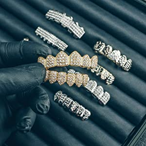 grills grillz gold silver diamond teeth mouthguard rap hip hop