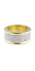 gold plated jewellery gold plated ice jewelry wedding rings cubic zirconia rings