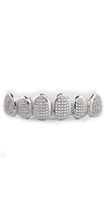 GRILLZ GRILLS SILVER GOLD ICEY DIAMONDS RAPPER HIP HOP