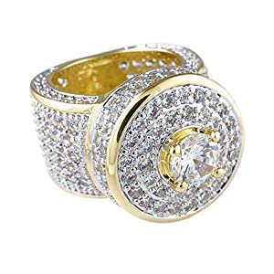 ring bling diamond gold silver hip hop rap rapper star gangster thick jewelry