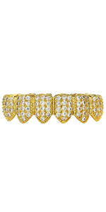 GOLD GRILLZ ICED OUT GRILLS RAPPER HIP HOP