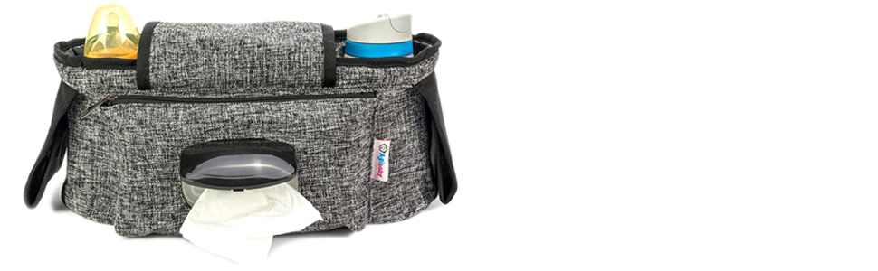 6b38a25a669d Agibaby Stroller Organizer, Insulated Deep Cup Holders, Instant Access Wipe  Pocket, Universal Strap...
