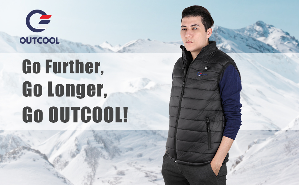 OUTCOOL heated vest, prefect for outdoor activity in cold.