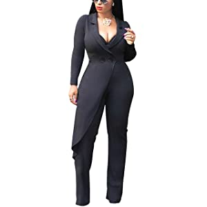 bb07cff5bf81 UUYUK Women Long Sleeve Wear to Work Solid Pants Suit Set Suit Sets Clothing,  Shoes & Jewelry