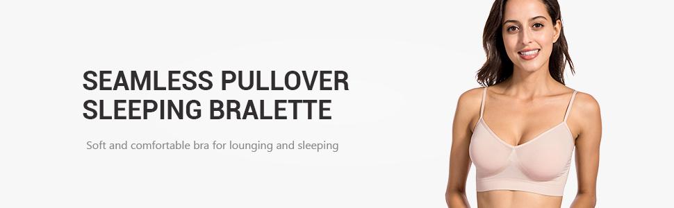 5774c42196 DELIMIRA Women s Comfort Sleep No Padding Pullover Wire Free ...