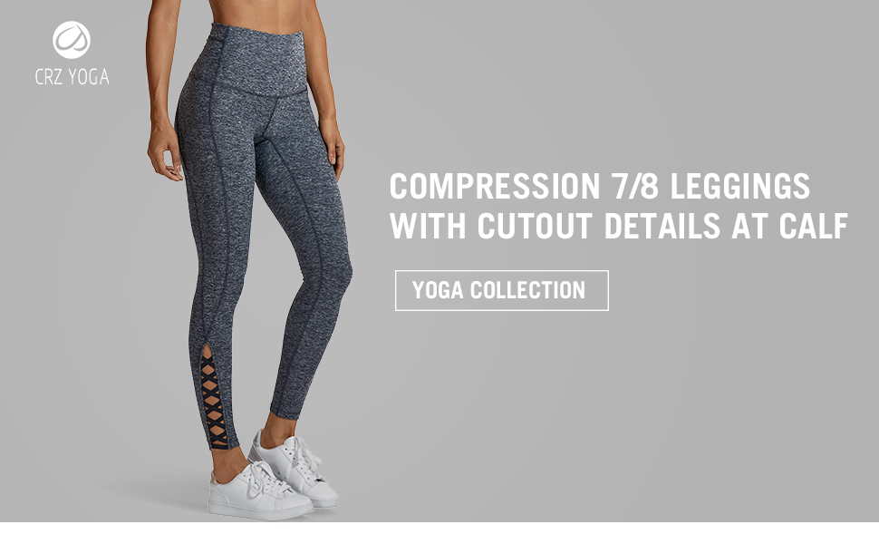 CRZ YOGA Womens Cotton Feel Squat Proof Sports Pants 4-Way-Stretch Workout Yoga Leggings-25 Inches