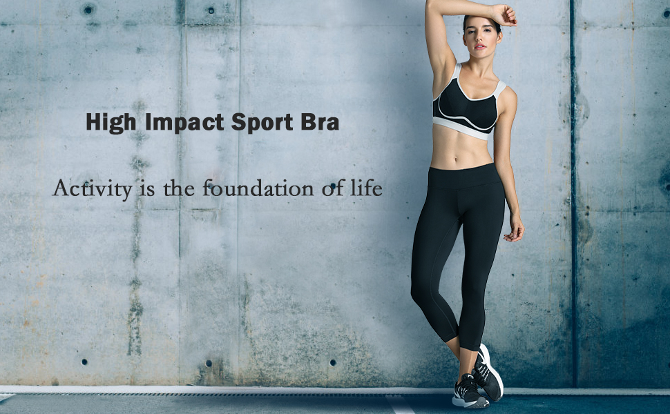 Details About Women S Comfort High Impact Support Bounce Control Plus Size Workout Sports Bra