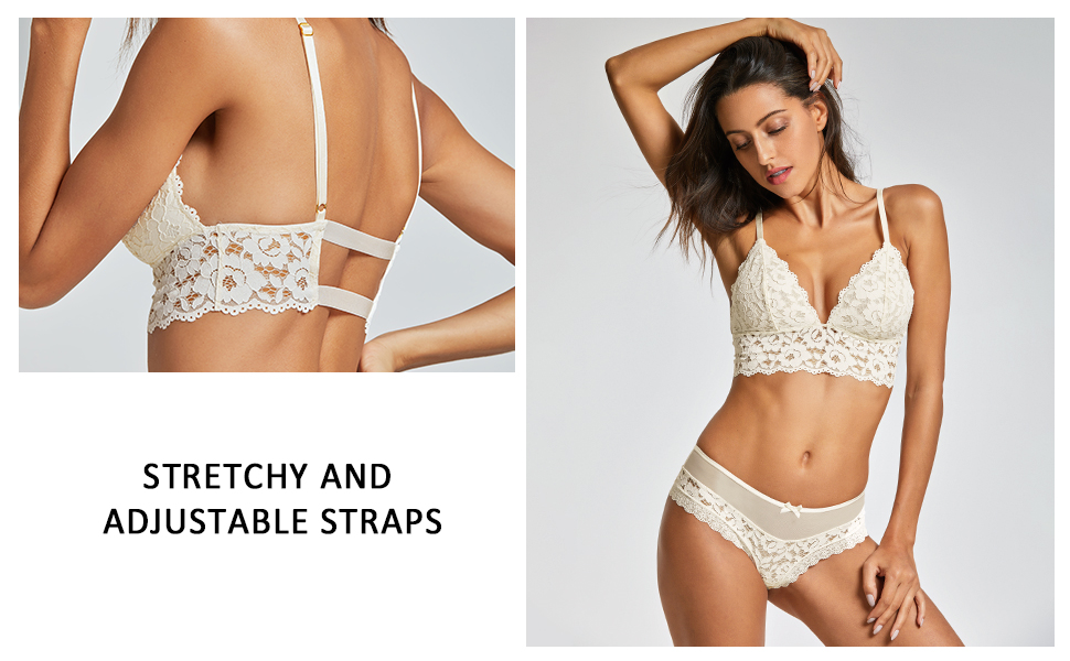 085dbc6866 Wire Free Lace Bralette · Velet Plunge Bralette · Longline Lace Bralette ·  V-neck Mesh Bralette · Front Closure Push up Bra · Seamless push up  Strapless Bra