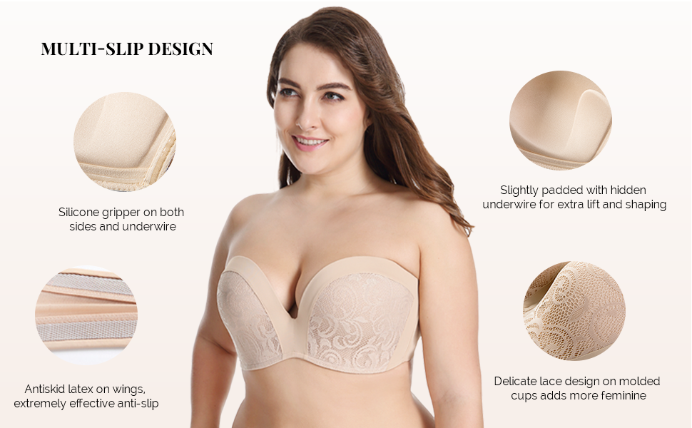 074f9225687cf Slightly Lined Lift Lace Strapless · Seamless Full Figure Strapless Bra ·  Molded Smooth Strapless Bra · Lace Seamless Multiway Strapless Bra ...