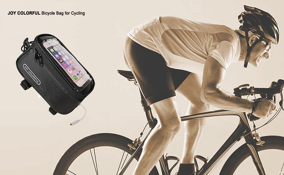 Outdoor MTB Road Bike Front Frame Bag Bicycle Beam Bag Bicycle Tube Bag SP