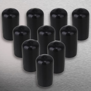 CNBTR Soft Rubber Screw Thread Protector Cover Vinyl Round