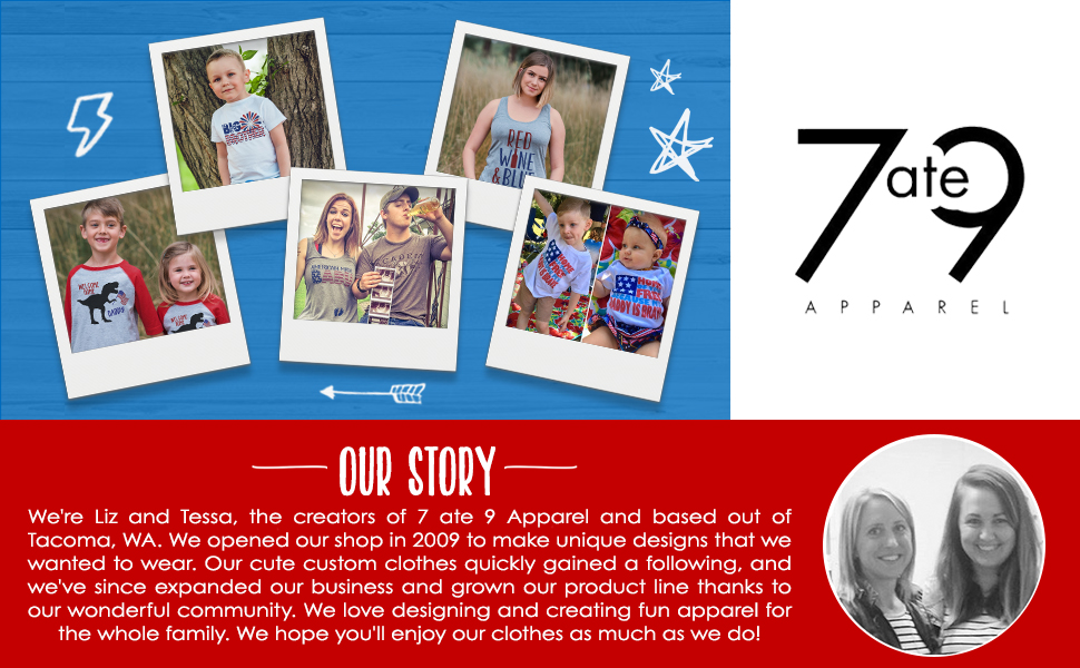 7 ate 9 Apparel Babys Merica Mustache 4th of July Onepiece