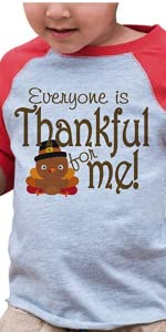thankful for baby thanksgiving shirt for boys or girls happy turkey day