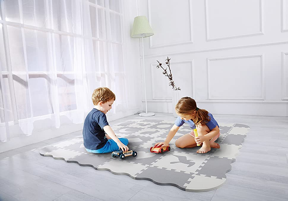Amazon.com : Baby Play Mat with Fence | Superjare Thick (0.56 ...