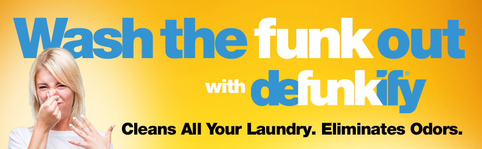 Wash the FUNK out, with defunkify Active Wear Laundy Detergent