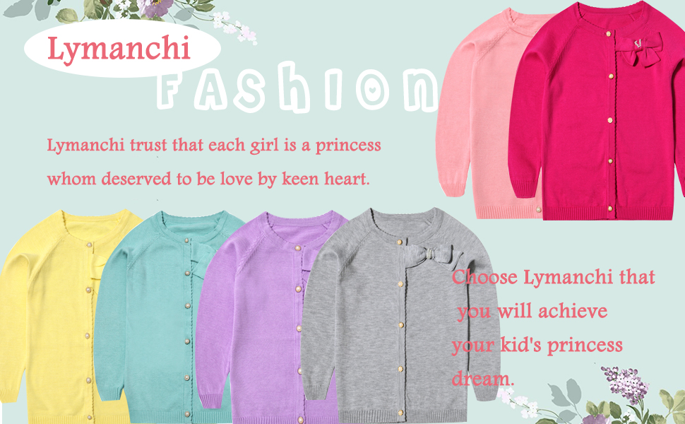 cecf75675 Amazon.com  lymanchi Little Girls  Long Sleeve Cardigan Button ...