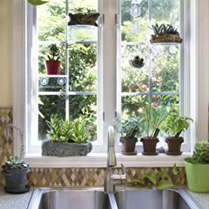 Window Garden Rustic Charm Herb Trio Kit with Planter Pots, Slate Markers,  Fiber Soil, Germination Bags, Basil, Chive and Sage Seeds. Complete and ...