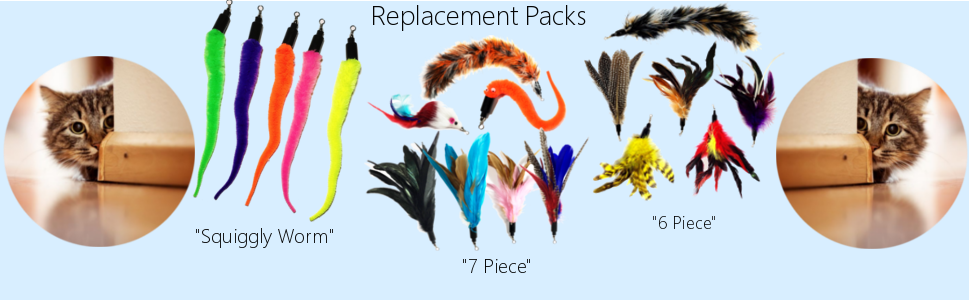 Pet Fit For Life Premium Feather Toy Replacement Packs
