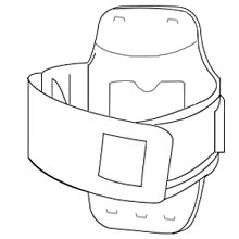 Loop the armband in accordance to your arm size.