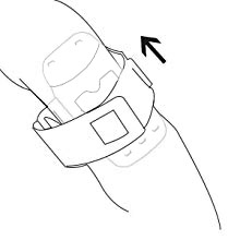 "Put  the ""armband loop"". Adjust the strap and tighten it, in a way it is not causing discomfort."