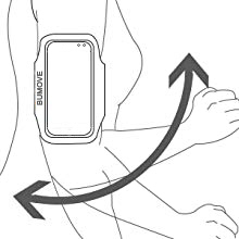 Shake your arm to check if the armband is fastened.