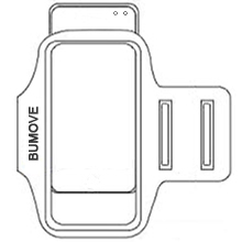 Put your phone in to the BUMOVE Sports armband.