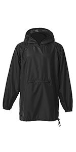 Amazon linenlux siyang rain poncho jacket coat for adults hooded zip up rain poncho hooded zip up rain poncho hooded button rain jacket hooded outdoor rain jacket polka dots button rain jacket gumiabroncs Images