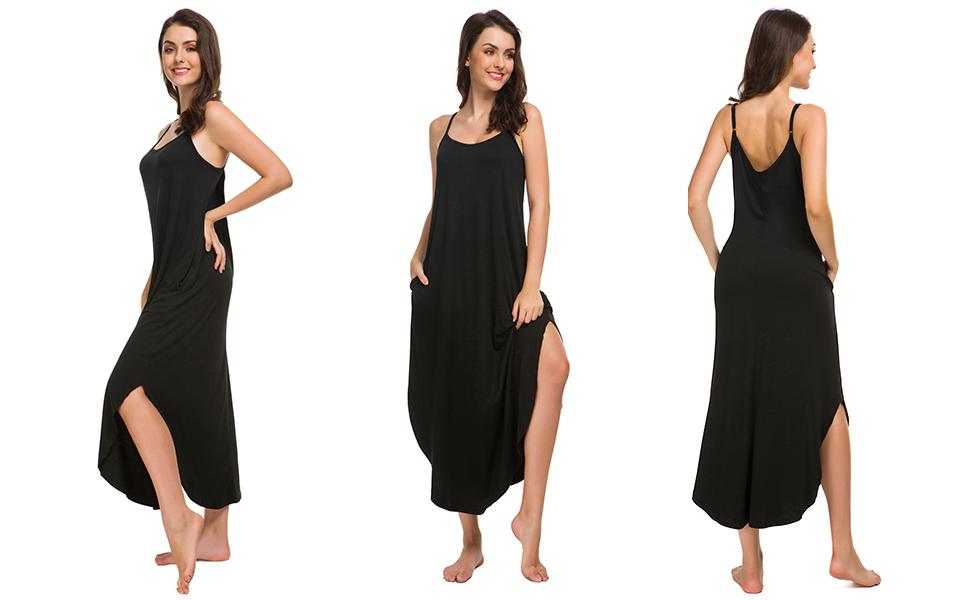 sleeveless womens nightgowns long