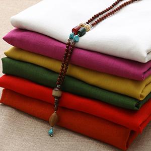 Minibee Women's Ethnic Cotton Linen Short/Long Sleeves