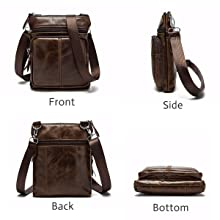 ff3d629e4871 OURBAG Casual Men Vintage Shoulder Bag Messenger Crossbody Bags Handbag
