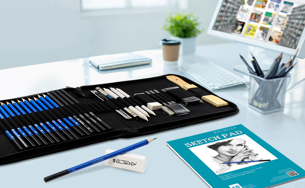 Pencil set with drawing book
