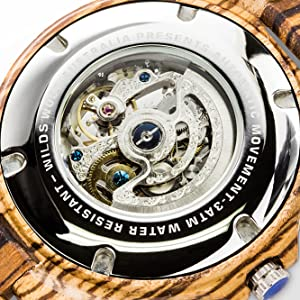 automatic wood watch