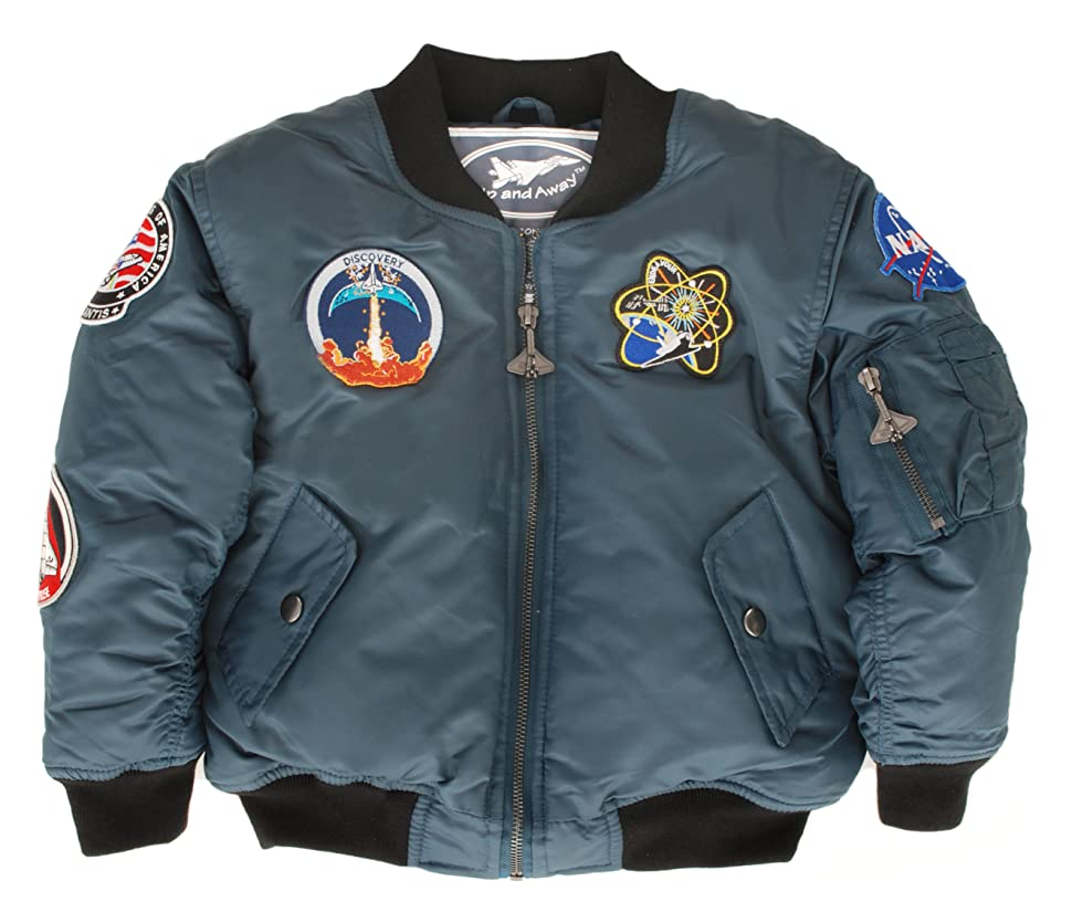 Amazon Com Up And Away Boys Nasa Space Shuttle Jacket