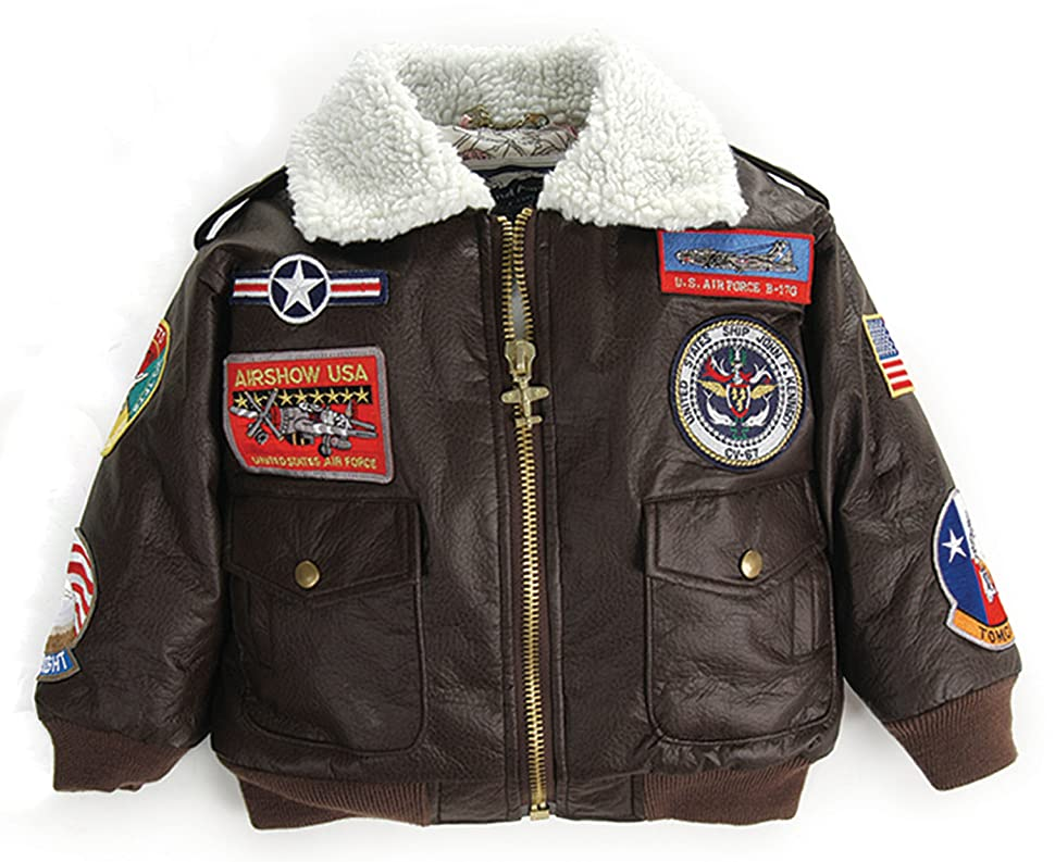 Amazon.com: Up and Away Boys' A-2 Bomber Jacket: Clothing