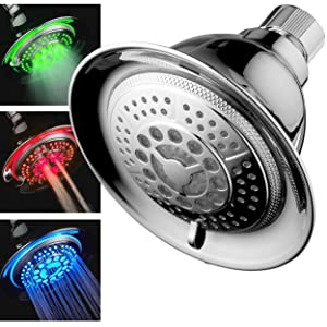 DreamSpa All Chrome Water Temperature Color Changing LED Shower Head Is The  Worldu0027s Most Advanced LED Shower Head!