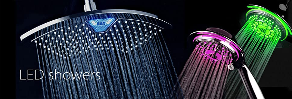 Thanks To Technology, Taking A Shower Has Become More Exciting, Courtesy Of  All Chrome Water Temperature Color Changing LED Shower Head By DreamSpa!
