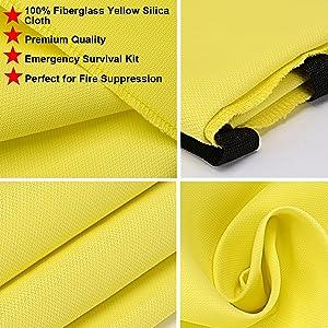 silica fiberglass flame retardant cloth blanket