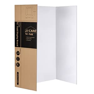 Heavy Duty 36 X 48 Trifold Poster Board Corrugated Cardboard Panel Presentation Board For Art Projects And Science Fair Board By Jj Care