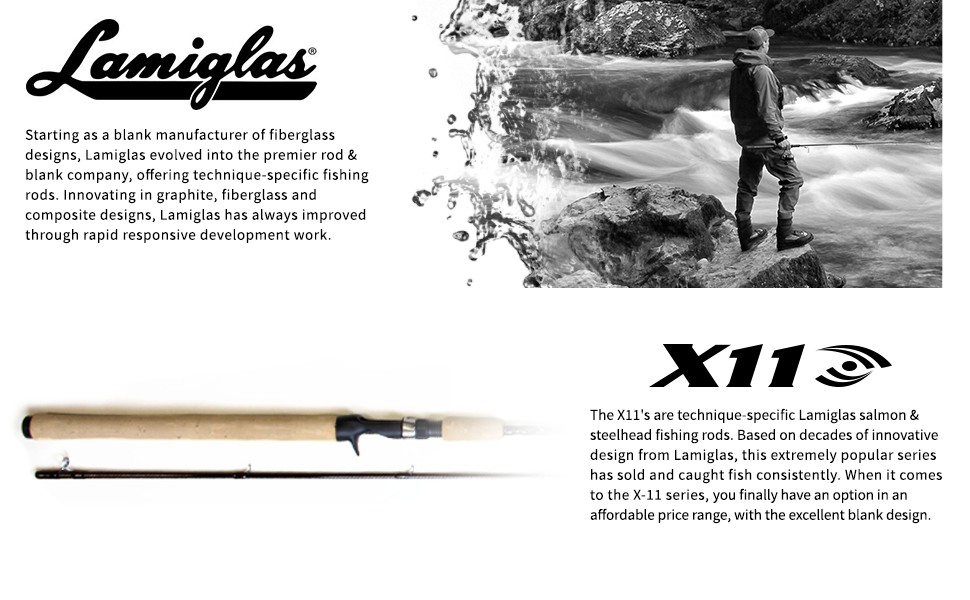 X11 Lamiglas fishing rod steelhead salmon fly casting spinning cork