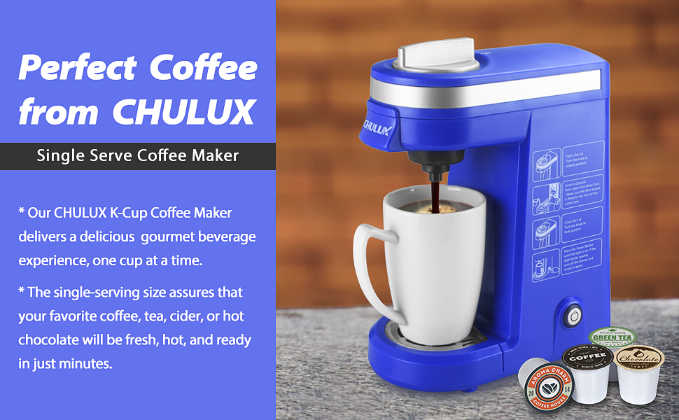 if you love choices when it comes to single cup brewing chulux single serve kcup coffee brewer is designed for you it is the ideal solution for coffee - K Cup Brewers