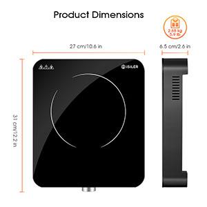 Amazon.com: Placa de inducción portátil, iSiLER 1800W Sensor ...
