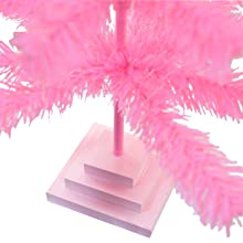 pink base stand christmas tree artificial holiday decorations