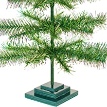 alpine green christmas tinsel tree tabletop 3ft height tall small home decor centerpiece wedding