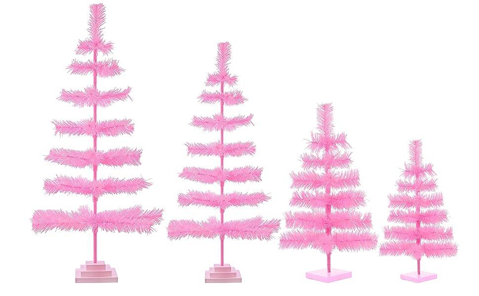 Amazon Com 48 Pink Christmas Tree Table Top Centerpiece Small