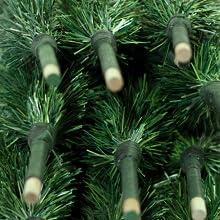 green tinsel brush tree christmas holiday garland greenery home decor decorations centerpiece