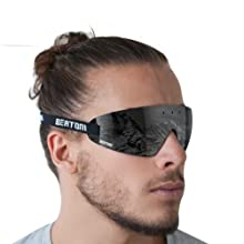 Wraparound design: protects the eyes from wind and bad weather, provide enhanced peripheral vision