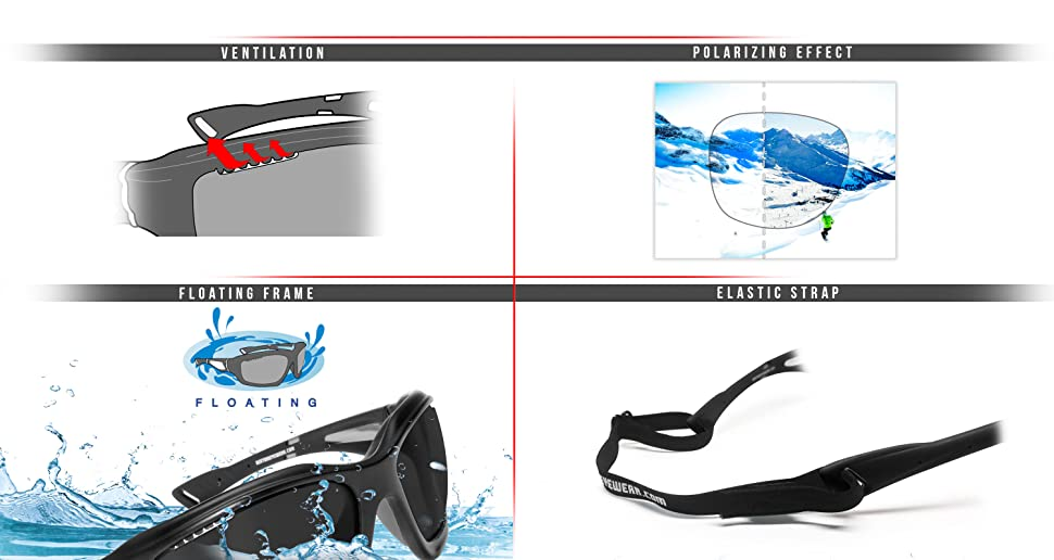 39da645a508a9 Sports Sunglasses Polarized Photochromic for Cycling Mtb Ski Fishing  Watersports Golf Running and Outdoor Activities - P1000FT Windproof  Wraparound Glasses ...