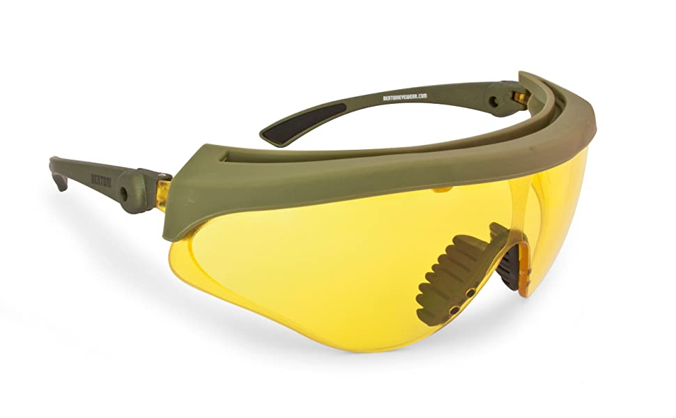 Bertoni Shooting Glasses Shatterproof and Antifog Lens - Adjustable Lens' Angle